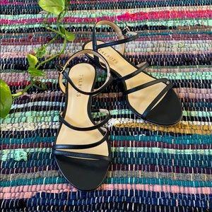 Talbots Black Strappy Sandals
